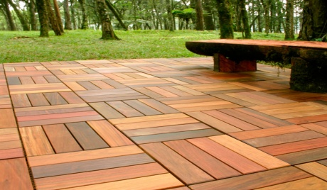 Wood Deck Tile 12 Slats